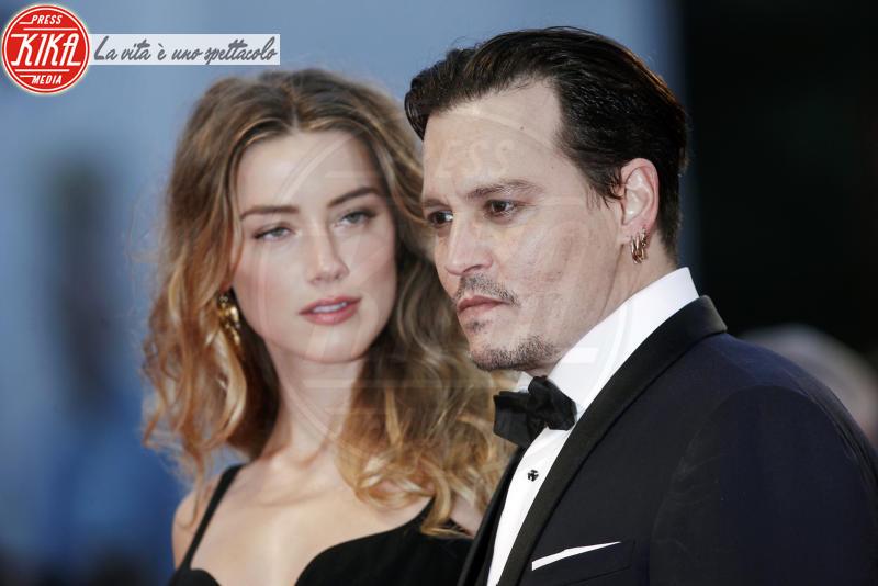 Amber Heard, Johnny Depp - Venezia - 04-09-2015 - Amber Heard, solo l'ultima star picchiata dal compagno