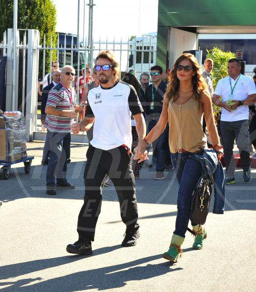 Lara Alvarez, Fernando Alonso - Monza - 06-09-2015 - GP di Monza, Matteo Renzi tra gli spettatori vip