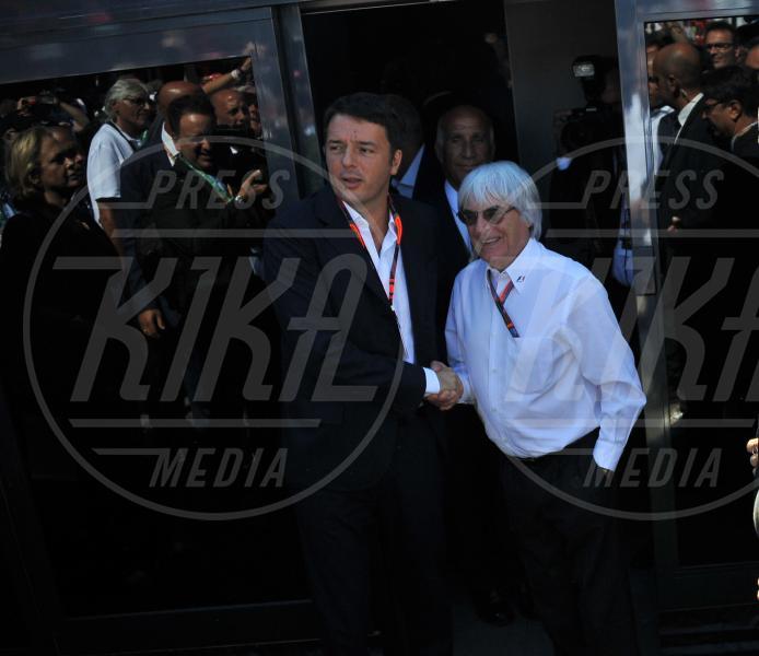 Bernie Ecclestone, Matteo Renzi - Monza - 06-09-2015 - GP di Monza, Matteo Renzi tra gli spettatori vip