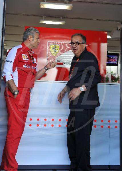 Maurizio Arrivabene, Sergio Marchionne - Monza - 06-09-2015 - GP di Monza, Matteo Renzi tra gli spettatori vip