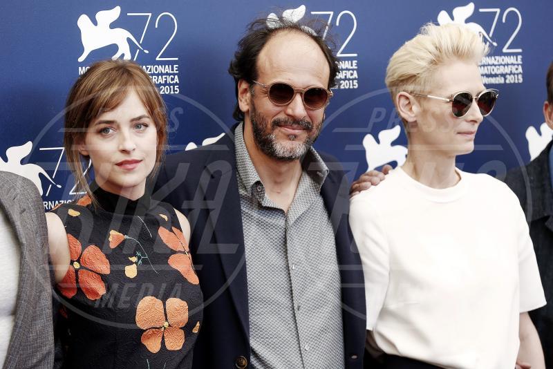 Dakota Johnson, Luca Guadagnino, Tilda Swinton - Venezia - 06-09-2015 - Thom Yorke, prima volta per il cinema: comporrà per un italiano