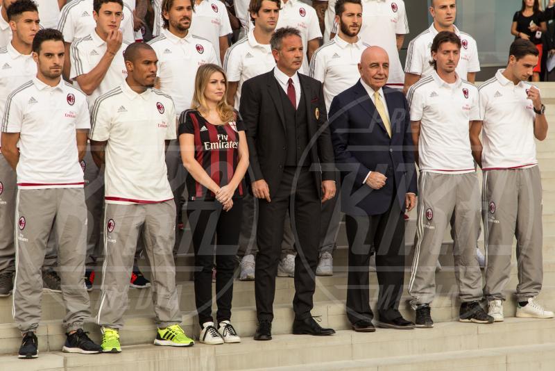 Barbara Berlusconi - Milano - 10-09-2015 - Barbara Berlusconi, raduno a Casa Milan con squadra e tifosi