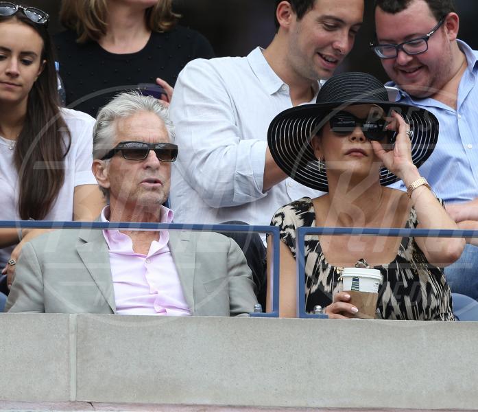Catherine Zeta Jones, Michael Douglas - New York - 12-09-2015 - Us Open 2015: l'America ai piedi delle tenniste italiane