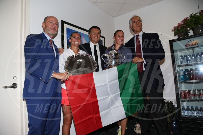 Roberta Vinci, Matteo Renzi, Flavia Pennetta - New York - 12-09-2015 - Flavia Pennetta: le curiosità sulla regina degli Us Open