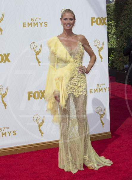 Heidi Klum - Los Angeles - 20-09-2015 - Emmy Awards 2015: le dive viste fronte e retro