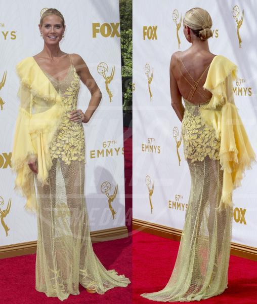 Heidi Klum - 21-09-2015 - Emmy Awards 2015: le dive viste fronte e retro