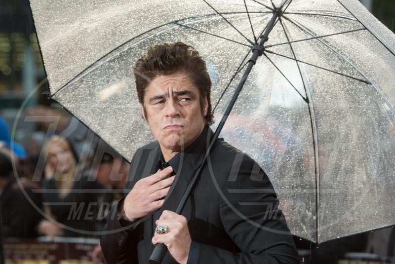 Benicio Del Toro - Londra - 21-09-2015 - Star come noi: la pioggia non guarda in faccia a nessuno