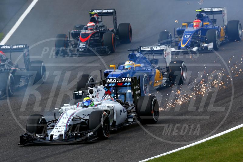 Marcus Ericsson, Felipe Massa - Suzuka - 27-09-2015 - Lewis Hamilton vince a Suzuka ed eguaglia Senna