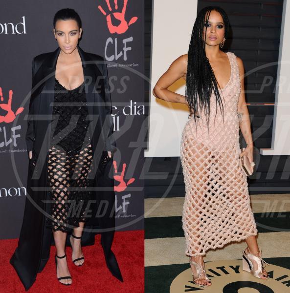 Kim Kardashian, Zoe Kravitz - Los Angeles - 28-09-2015 - Kim Kardashian e Zoe Kravitz: chi lo indossa meglio?