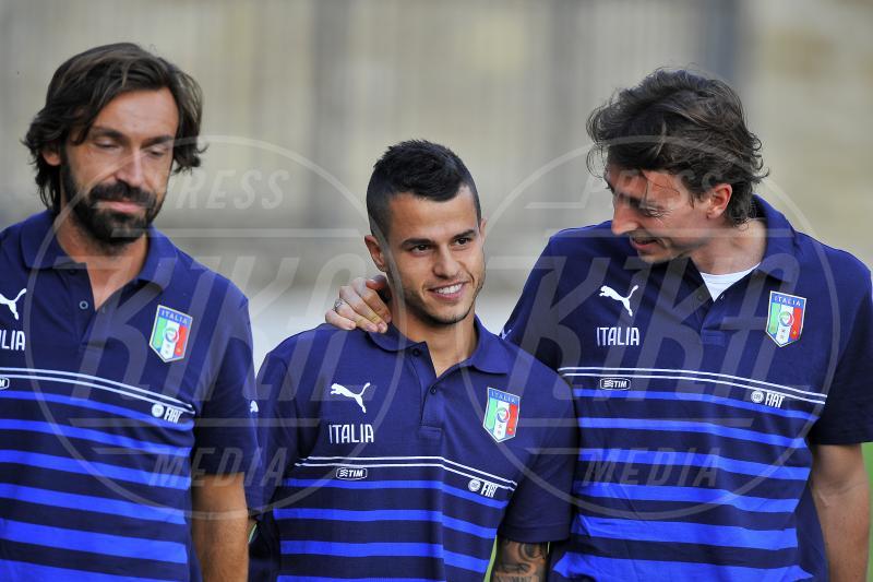 Sebastian Giovinco, Riccardo Montolivo, Andrea Pirlo - Coverciano - 05-10-2015 - Euro 2015: Conte su Balotelli: