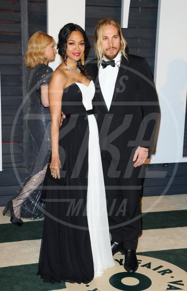 Marco Perego, Zoe Saldana - West Hollywood - 22-02-2015 - Da Beatrice Borromeo a Dajana Roncione: Italians do it better!