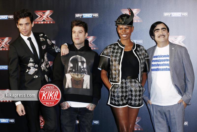 Elio, Fedez, Mika, Skin - Milano - 20-10-2015 - X Factor: Mika lascia il ruolo di giudice