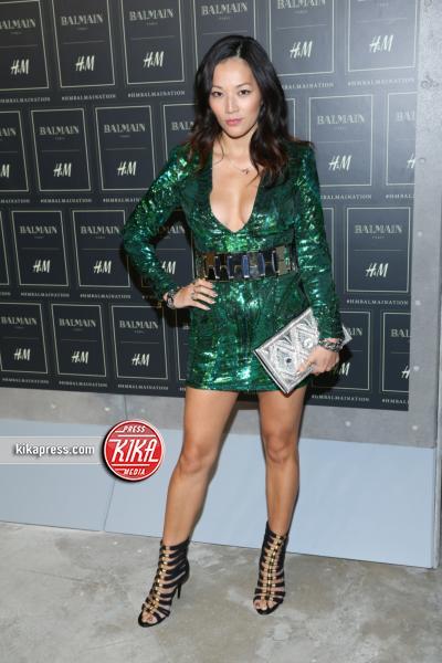 Tina Leung - New York - 21-10-2015 - Gigi Hadid è una dama in nero al lancio di Balmain per H&M