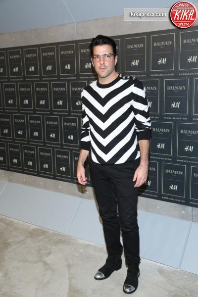 Zachary Quinto - New York - 20-10-2015 - Gigi Hadid è una dama in nero al lancio di Balmain per H&M