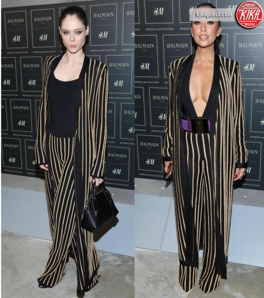 Datin Ezurin, Coco Rocha - 21-10-2015 - Gigi Hadid è una dama in nero al lancio di Balmain per H&M