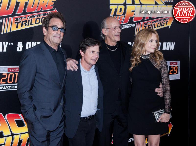 Michael J. Fox, Huey Lewis, Christopher Lloyd, Lea Thompson - New York - 21-10-2015 - Ritorno al futuro arriva a 4? Gli attori ieri e oggi
