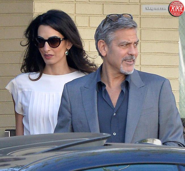 Amal Alamuddin, George Clooney - Beverly Hills - 25-10-2015 - Qui sono nati i gemellini Clooney: entrate con noi