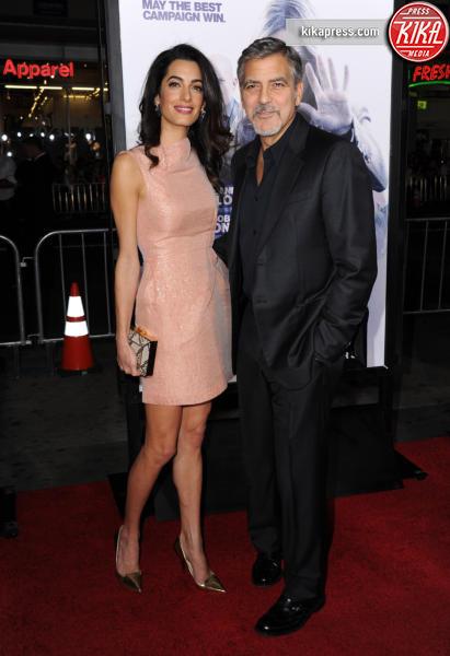 Amal Alamuddin, George Clooney - Hollywood - 26-10-2015 - Le celebrity? Tutte romantiche belle in rosa!