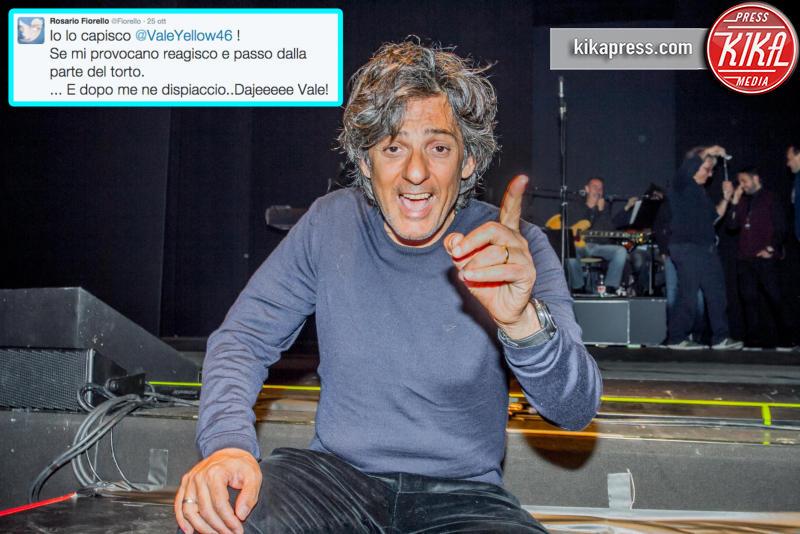 Rosario Fiorello - Bergamo - 02-01-2012 - Caso Rossi-Marquez, tutti i cinguettii vip a favore di #Vale46