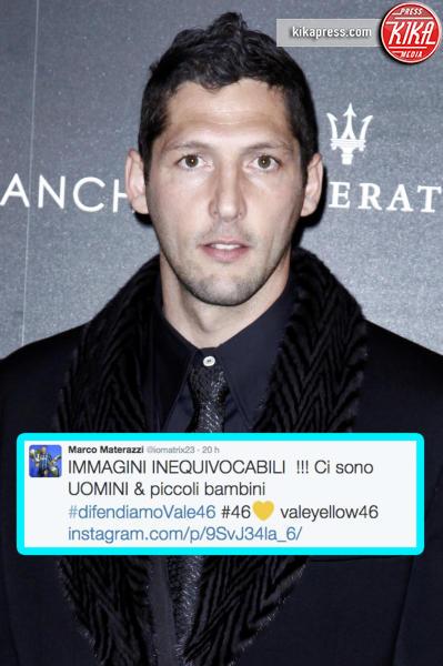 Marco Materazzi - Milano - 16-03-2012 - Caso Rossi-Marquez, tutti i cinguettii vip a favore di #Vale46