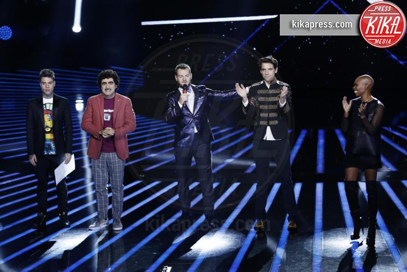 Elio, Fedez, Alessandro Cattelan, Mika, Skin - Milano - 29-10-2015 - X Factor: Mika lascia il ruolo di giudice