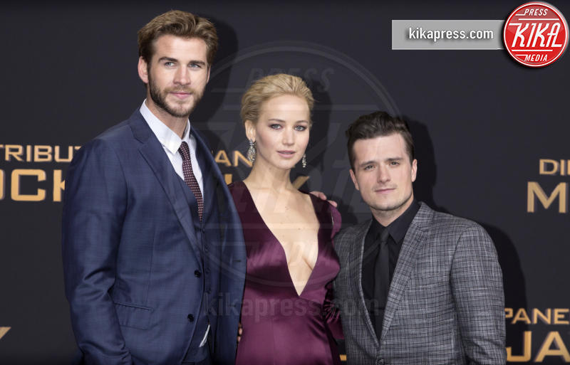 Liam Hemsworth, Jennifer Lawrence, Josh Hutcherson - Munich - 04-11-2015 - Hunger Games: Jennifer Lawrence parla del prequel