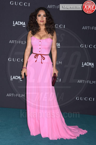 Salma Hayek - Los Angeles - 07-11-2015 - Le celebrity? Tutte romantiche belle in rosa!