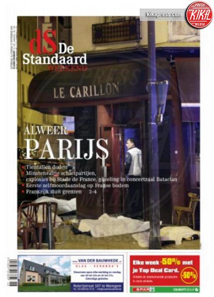 De Standaard - Parigi - 14-11-2015 - Carneficina a Parigi, le prime pagine di tutto il mondo