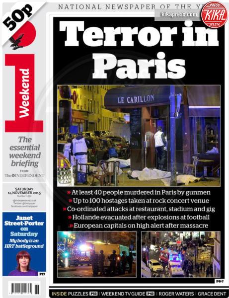 I Weekend - Parigi - 14-11-2015 - Carneficina a Parigi, le prime pagine di tutto il mondo