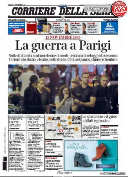 Corriere della Sera - Parigi - 14-11-2015 - Carneficina a Parigi, le prime pagine di tutto il mondo