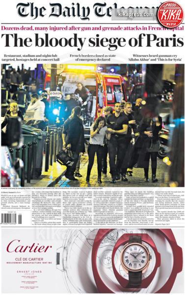Daily Telegraph - Parigi - 14-11-2015 - Carneficina a Parigi, le prime pagine di tutto il mondo