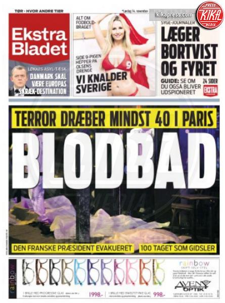 Ekstra Bladet, Copertina - Parigi - 14-11-2015 - Carneficina a Parigi, le prime pagine di tutto il mondo