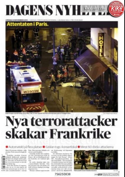 Dagens Nyheter - Parigi - 14-11-2015 - Carneficina a Parigi, le prime pagine di tutto il mondo