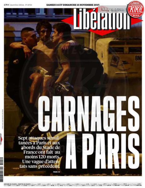 Liberation - Parigi - 14-11-2015 - Carneficina a Parigi, le prime pagine di tutto il mondo