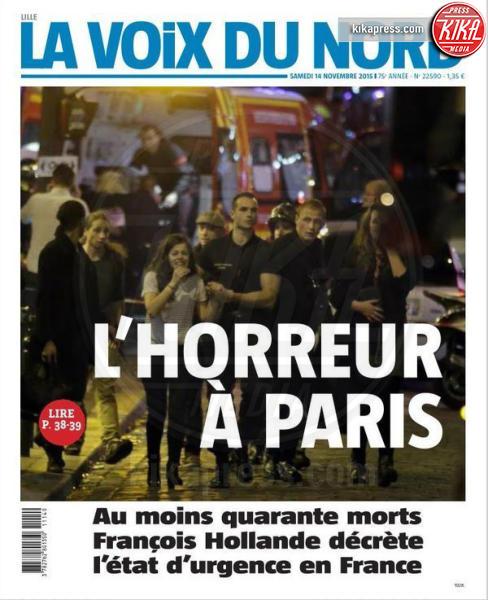 La Voix du Nord - Parigi - 14-11-2015 - Carneficina a Parigi, le prime pagine di tutto il mondo