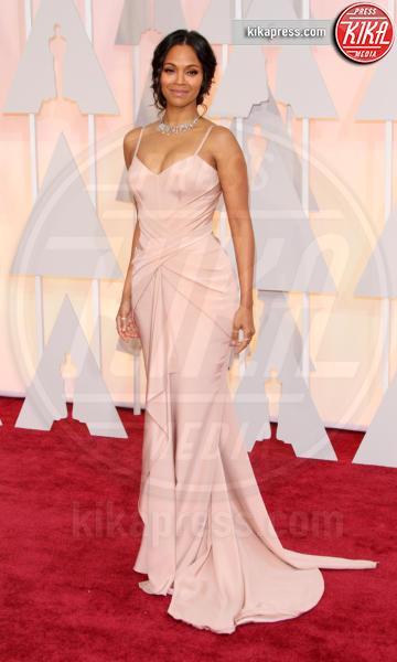 Zoe Saldana - Los Angeles - 22-02-2015 - Le celebrity? Tutte romantiche belle in rosa!