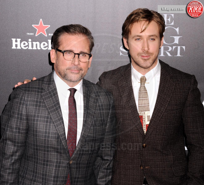 Steve Carell, Ryan Gosling - New York - 24-11-2015 - Poker di stelle per La Grande Scommessa