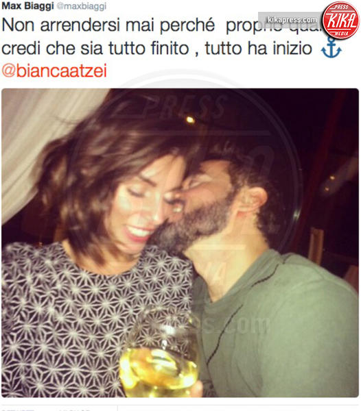 Bianca Atzei, Max Biaggi - Milano - 24-11-2015 - Atzei-Biaggi, è addio: