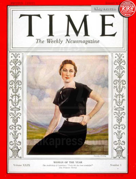 Time, Wallis Simpson - 09-12-2015 - Angela Merkel è la persona dell'anno per Time