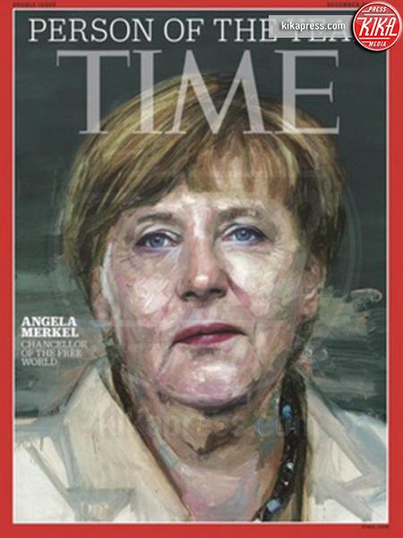 Time, Angela Merkel - 09-12-2015 - Angela Merkel è la persona dell'anno per Time