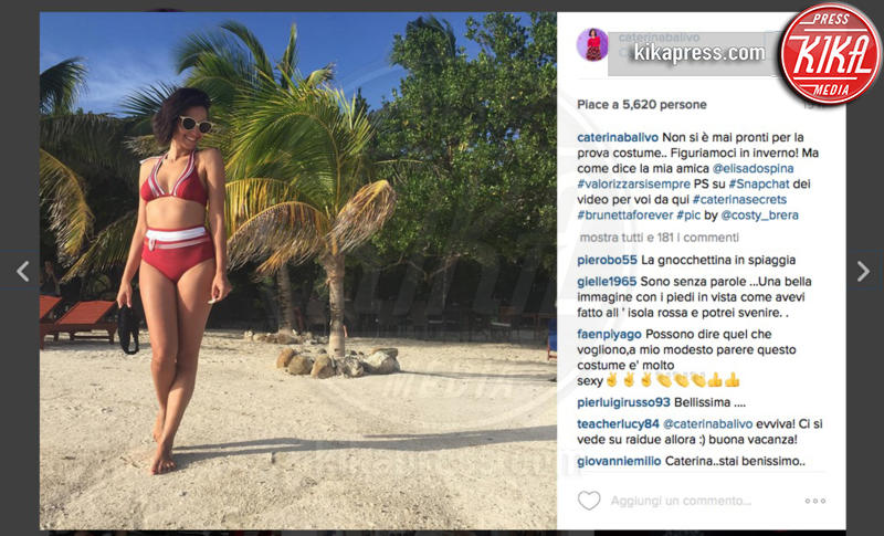 Caterina Balivo - Star come noi... o quasi... se vi rilassate al sole d'inverno!