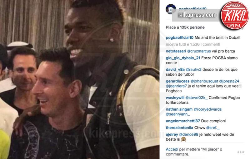 Paul Pogba, Lionel Messi - Dubai - 28-12-2015 - Pogba-Messi, che coppia! La foto è già virale