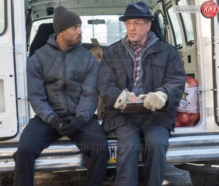Creed, Michael B. Jordan, Sylvester Stallone - Los Angeles - 07-01-2016 - Sylvester Stallone, quanta eleganza sul set di Creed 2
