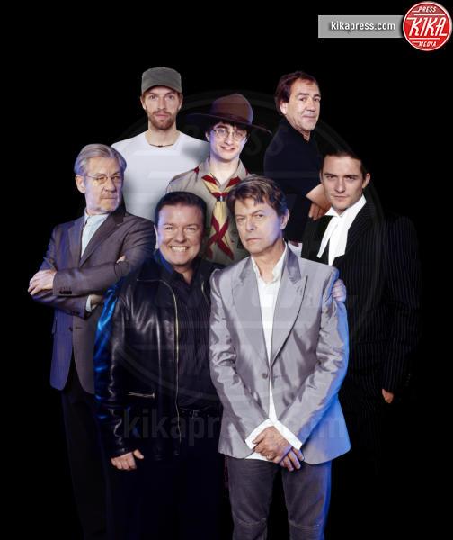 Robert Lindsay, Shown clockwise from bottom left: Ricky Gervais, David Bowie, Ian McKellen, Chris Martin, Daniel Radcliffe, Orlando Bloom - 01-01-2006 - David Bowie, l'uomo che cadde sulla Terra
