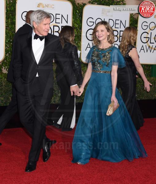 Harrison Ford, Calista Flockhart - Beverly Hills - 10-01-2016 - Supergirl: Calista Flockhart sarà anche nella seconda stagione