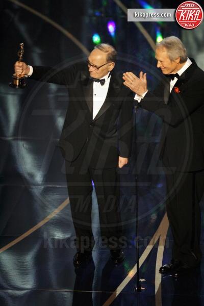 Ennio Morricone, Clint Eastwood - Los Angeles - 25-02-2007 - Ennio Morricone, per la sesta volta candidato agli Oscar