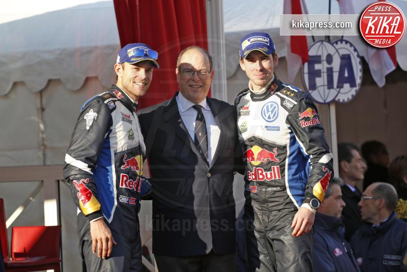 Julien Ingrassia, Sebastien Ogier, Principe Alberto di Monaco - Monaco - 24-01-2016 - Alberto di Monaco premia i vincitori del Rally di Montecarlo