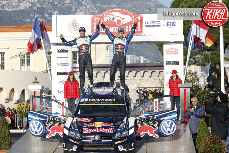 Julien Ingrassia, Sebastien Ogier - Monaco - 24-01-2016 - Alberto di Monaco premia i vincitori del Rally di Montecarlo