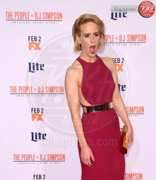 Sarah Paulson - Los Angeles - 28-01-2016 - Chi lo indossa meglio: Sarah Paulson o Katherine Jenkins?