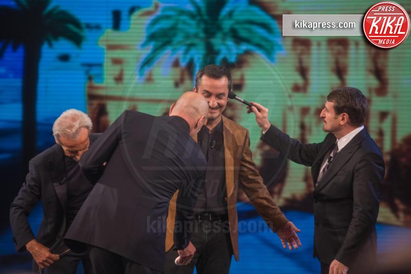 Giacomo Poretti, Giovanni Storti, Aldo Baglio, Nicola Savino - Sanremo - 10-02-2016 - Daniela Cristofori è il segreto di Giacomo Poretti